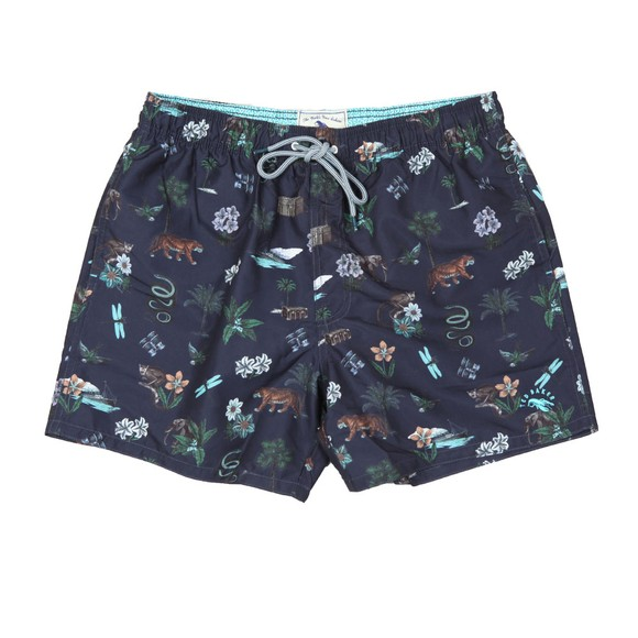 Ted Baker Mens Blue Safari Print Swim Short