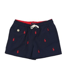 Polo Ralph Lauren Boys Navy Red Traveller Swim Short