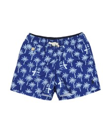 Polo Ralph Lauren Boys Blue Traveller Bear Swim Short