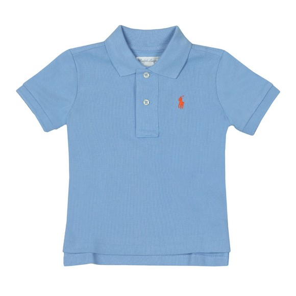 Polo Ralph Lauren Boys Blue Baby Plain Polo Shirt main image