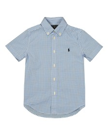 Polo Ralph Lauren Boys Blue Short Sleeve Gingham Shirt