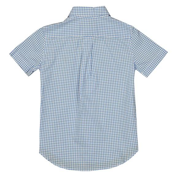Polo Ralph Lauren Boys Blue Short Sleeve Gingham Shirt main image
