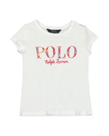 Polo Ralph Lauren Girls White Girls Embroidered Logo T Shirt