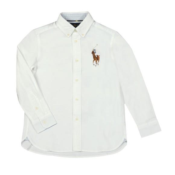 Polo Ralph Lauren Boys White Big Polo Player Oxford Shirt main image
