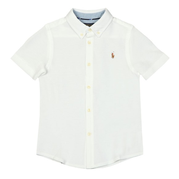 Polo Ralph Lauren Boys White Short Sleeve Pique Shirt