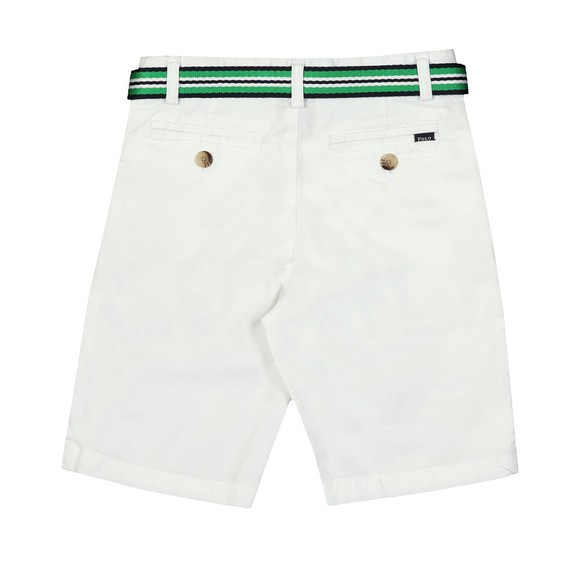 Polo Ralph Lauren Boys White Belted Chino Short main image