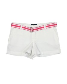Polo Ralph Lauren Girls White Belted Chino Short