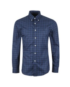 Polo Ralph Lauren Mens Blue Multi Check Button Down Shirt