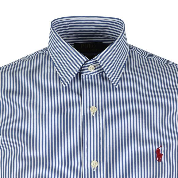 Polo Ralph Lauren Mens Blue Phillip Slim Fit Stretch Poplin Shirt
