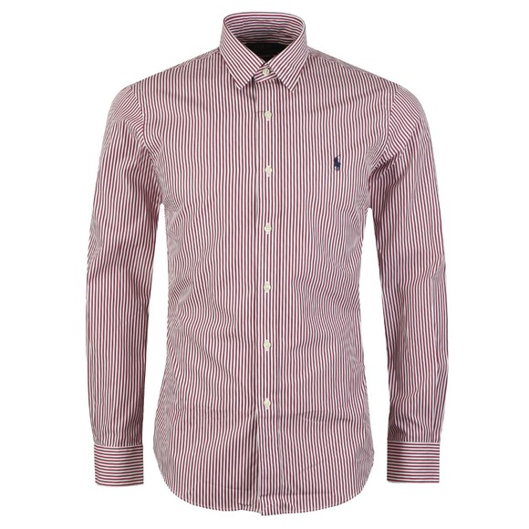 Polo Ralph Lauren Mens Red Phillip Slim Fit Stretch Poplin Shirt