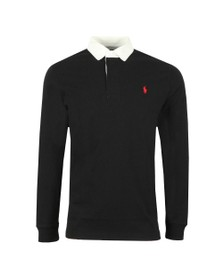 Polo Ralph Lauren Mens Black The Iconic Rugby Shirt