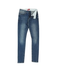 Eleven Degrees Mens Blue Super Stretch Skinny Jean