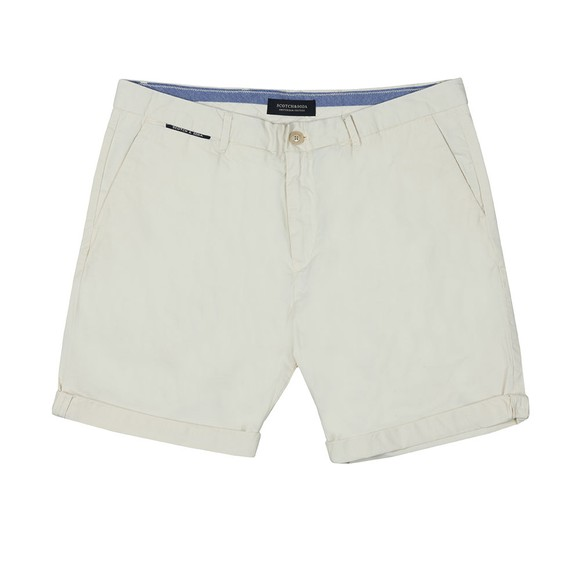 Scotch & Soda Mens Off-White Classic Pima Cotton Chino Short main image