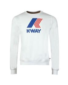 K-Way Mens White Augustine Macro Logo Sweatshirt