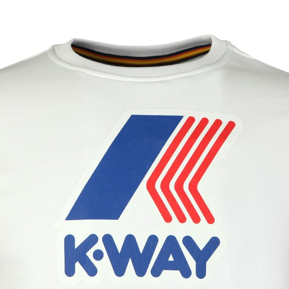 K-Way Mens White Augustine Macro Logo Sweatshirt main image