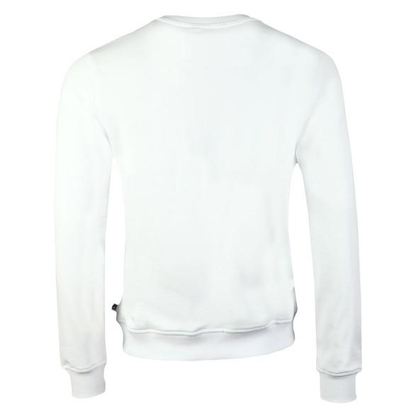 K-Way Mens White Augustine Macro Logo Sweatshirt main image