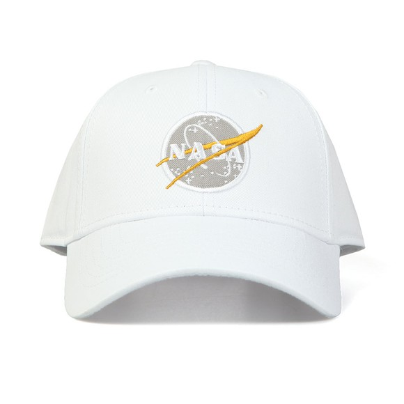 Alpha Industries Mens White NASA Cap