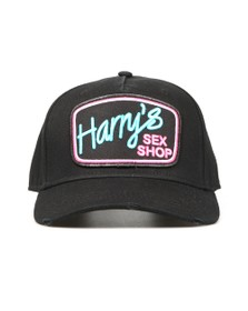 Lucky Seven Mens Black Harry's Sex Shop Cap