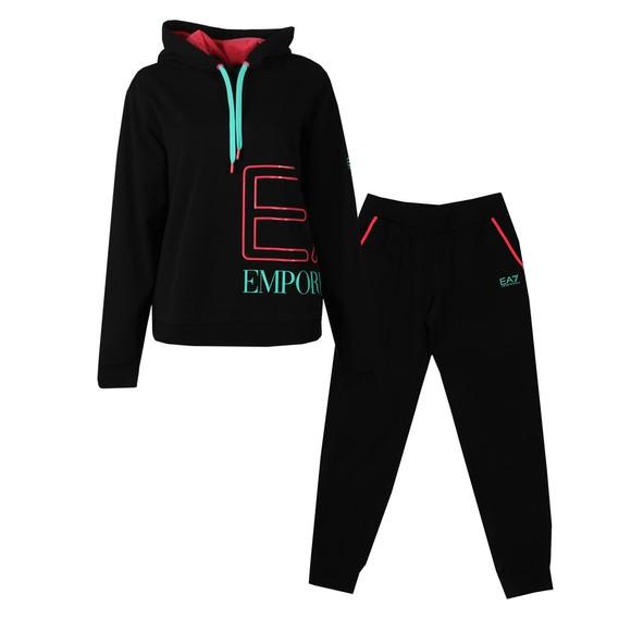 EA7 Emporio Armani Womens Black Jersey Tuta Gym Tracksuit main image