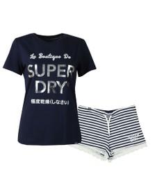 Superdry Womens Blue Emma Lace Loungewear Set