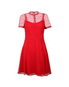 Michael Kors Womens Red Crochet Dress
