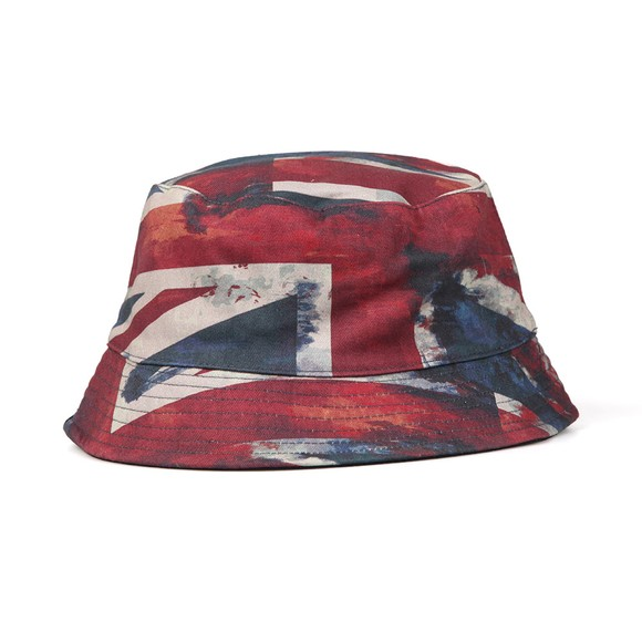Pretty Green Mens Blue Reversible Union Jack Hat main image