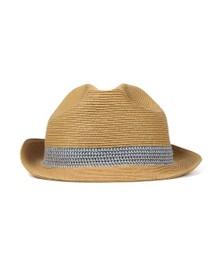 Ted Baker Mens Beige Straw Trilby Hat