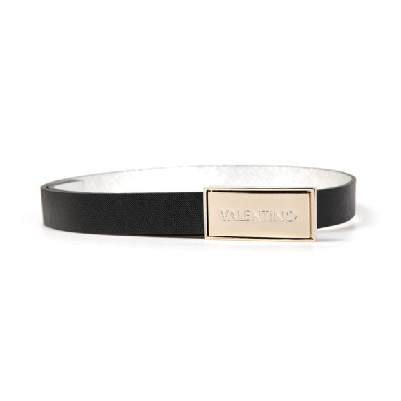 Valentino by Mario Womens Black Emma Plaque Belt main image
