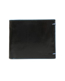 Ted Baker Mens Black Cechic Contrast Stitch Bifold Wallet