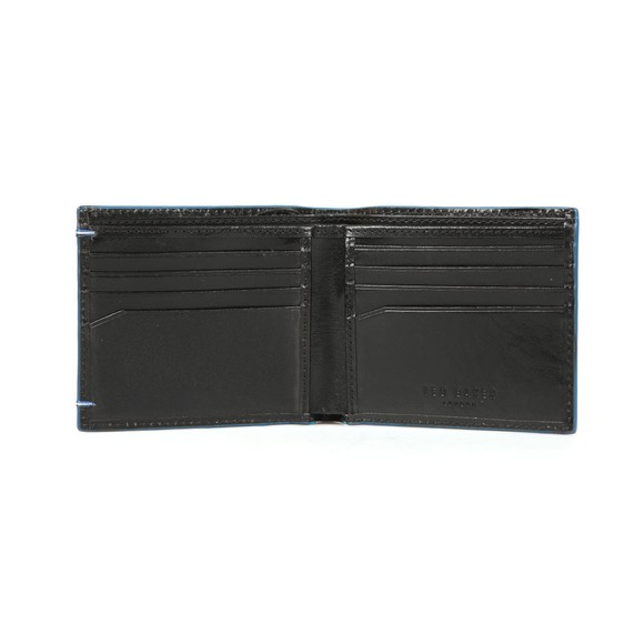 Ted Baker Mens Black Cechic Contrast Stitch Bifold Wallet main image