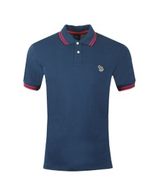 PS Paul Smith Mens Blue Tipped Zebra Polo