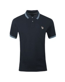 918c2957 PS Paul Smith Mens Blue Tipped Zebra Polo