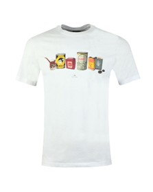 PS Paul Smith Mens White Oil Cans T-Shirt
