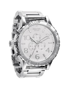 Nixon Mens White The 51-30 Polished White Chrono