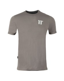 Eleven Degrees Mens Grey Muscle Fit Tee