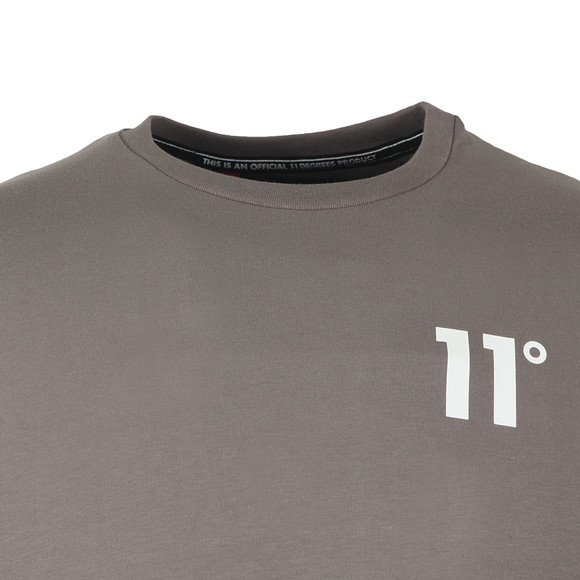 Eleven Degrees Mens Grey Muscle Fit Tee main image