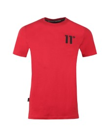 Eleven Degrees Mens Red Core T-Shirt