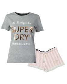 Superdry Womens Grey Emma Lace Loungewear Set