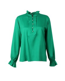 Maison Scotch Womens Green Tunic Top