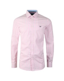 Crew Clothing Company Mens Pink Gingham Shirt