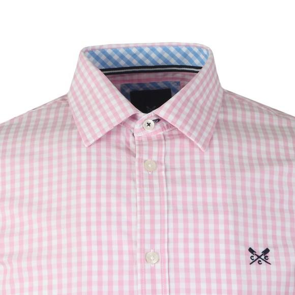 Crew Clothing Company Mens Pink Gingham Shirt main image