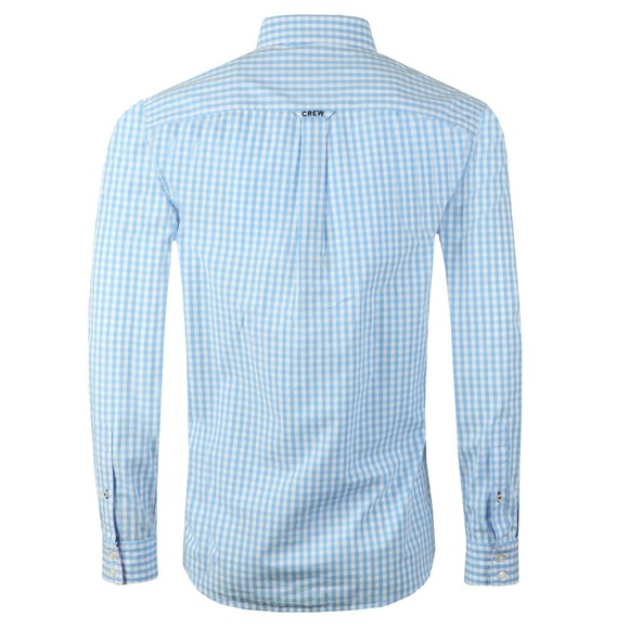 Crew Clothing Company Mens Blue Gingham Shirt main image