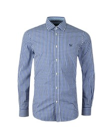 Crew Clothing Company Mens Blue Gingham Shirt
