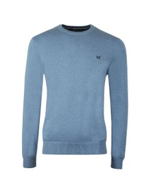Crew Clothing Company Mens Blue Foxley Crew Neck Knit