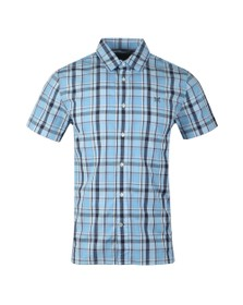 Crew Clothing Company Mens Blue S/S Pendower Shirt