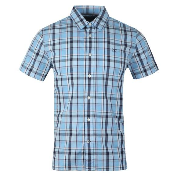 Crew Clothing Company Mens Blue S/S Pendower Shirt main image