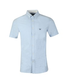 Crew Clothing Company Mens Blue S/S Oxford Shirt