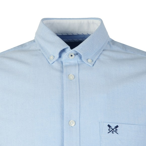 Crew Clothing Company Mens Blue S/S Oxford Shirt main image