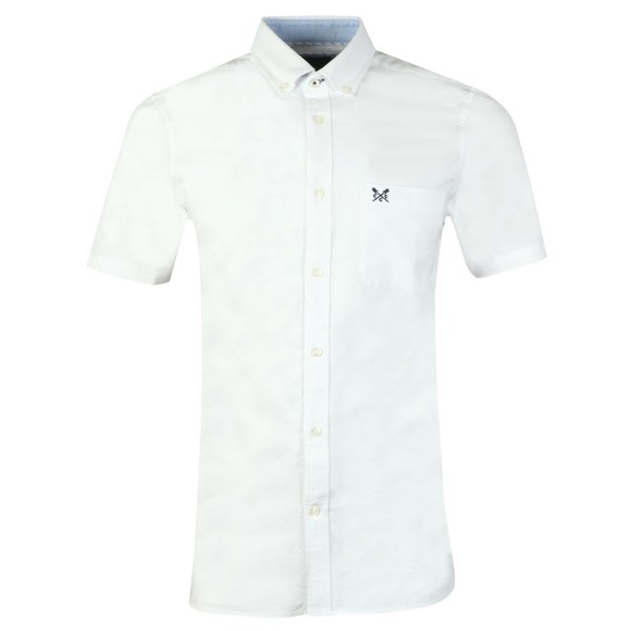 Crew Clothing Company Mens White S/S Oxford Shirt main image