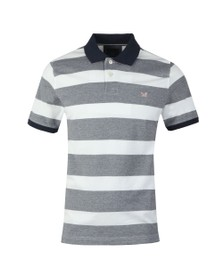 Crew Clothing Company Mens Blue Oxford Polo